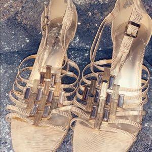Gold Bandolino heels
